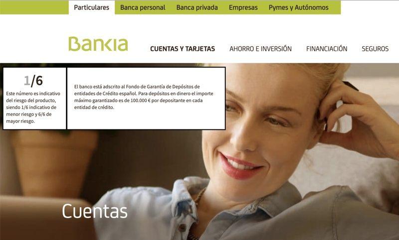 Bankia cuenta on sin comisiones