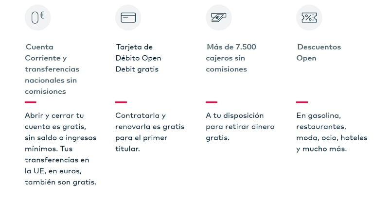 descripcion ventajas cuenta openbank