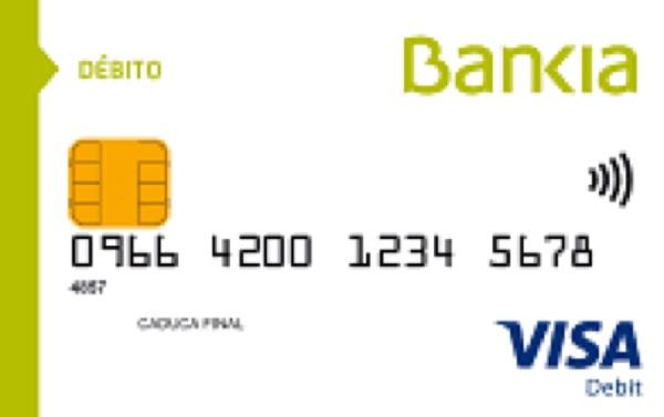 Tarjeta débito de Bankia