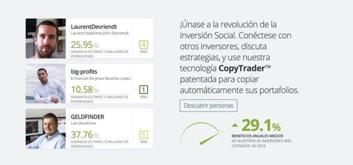 Trading social Etoro
